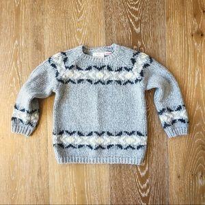 Zara Kids fair isle sweater in EUC 18-24 months